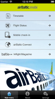 air Baltic's mobile app