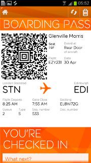 Easyjet's mobile app