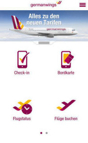 Germanwing's mobile app