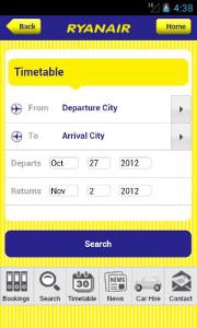 Ryanair's mobile app