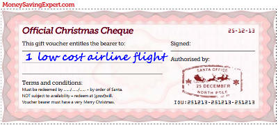 Airline christmas voucher