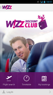Wizzair's mobile app